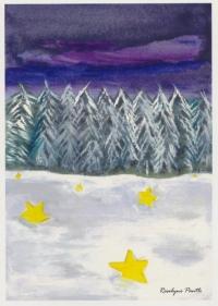 Wald mit Sternen